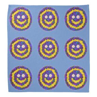 幸せなスマイリーフェイスのタンポポの花 バンダナ