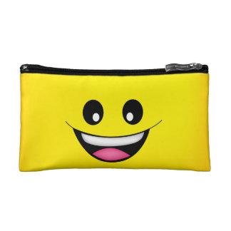 幸せなスマイリーフェイス コスメティックバッグ