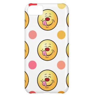 幸せなスマイリー及び水玉模様 iPhone5Cケース
