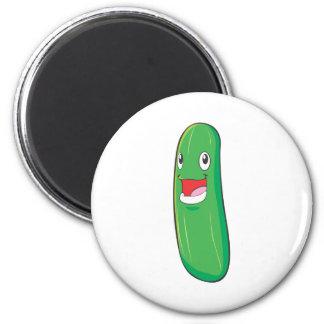 幸せなズッキーニの野菜の漫画 マグネット