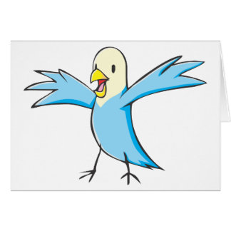 幸せなセキセイインコのオウムの鳥の漫画 カード
