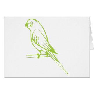 幸せなセキセイインコの鳥 カード