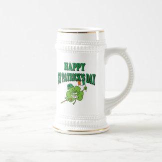 幸せなセントパトリックのおもしろいな日 ビールジョッキ