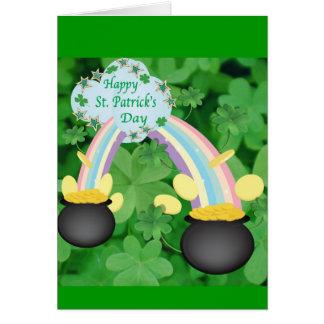 幸せなセントパトリックの日の挨拶状 カード