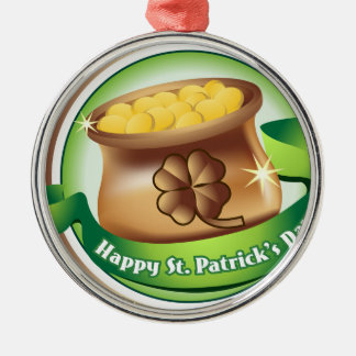 幸せなセントパトリックの日、アイルランドの聖者の帽子の休日 メタルオーナメント