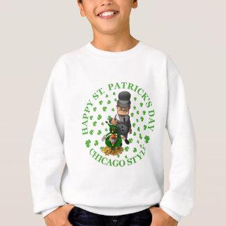 幸せなセントパトリックの日-シカゴのスタイル スウェットシャツ