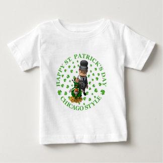 幸せなセントパトリックの日-シカゴのスタイル ベビーTシャツ