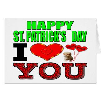 幸せなセントパトリックの日I愛 カード