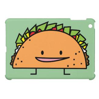 幸せなタコスのトウモロコシの貝のビーフ肉サルサのメキシコ人の食糧 iPad MINIケース