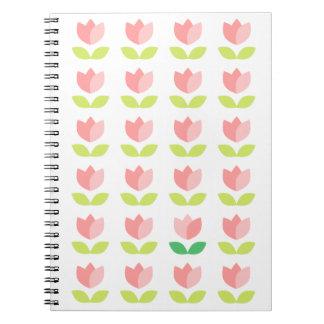 幸せなチューリップのノート ノートブック