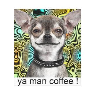 幸せなチワワ犬の芸術 キャンバスプリント