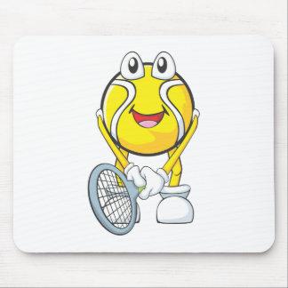 幸せなテニス・ボール マウスパッド