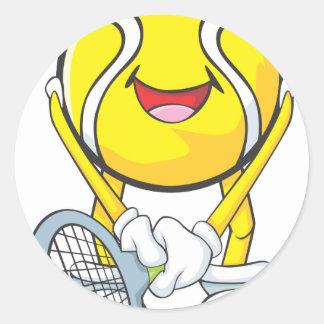 幸せなテニス・ボール ラウンドシール