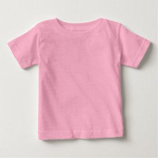 幸せなデザイン: 背部nの前部プリント ベビーTシャツ