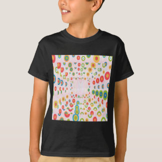幸せなデザイン: 背部nの前部プリント tシャツ