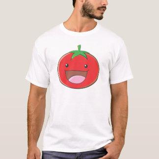 幸せなトマトの微笑 Tシャツ
