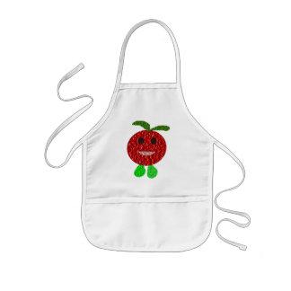 幸せなトマトは料理のエプロンをからかいます 子供用エプロン