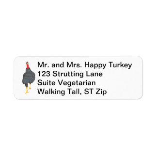 幸せなトルコの点描の宛名ラベル ラベル