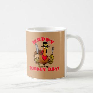 幸せなトルコ日のTシャツ、フード付きスウェットシャツは、発汗します コーヒーマグカップ