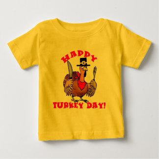 幸せなトルコ日のTシャツ、フード付きスウェットシャツは、発汗します ベビーTシャツ