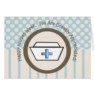 幸せなナース週の挨拶状 カード