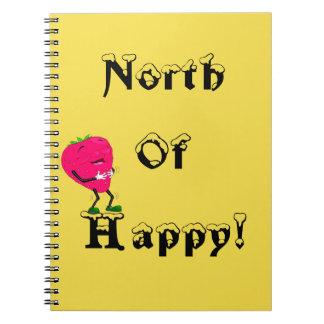 幸せなノートのいちごジャーナルの北 ノートブック