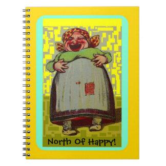 幸せなノートLOLの笑う女性の北Journal ノートブック