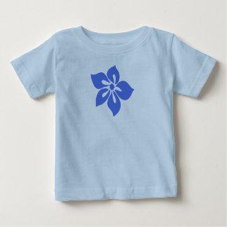 幸せなハイビスカスの乳児のティー ベビーTシャツ