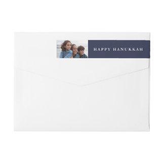 幸せなハヌカー|休日の青のあなたの写真 ラップアラウンドラベル