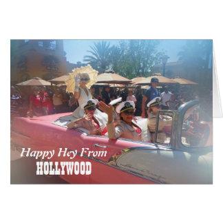 幸せなハリウッドの挨拶状! カード