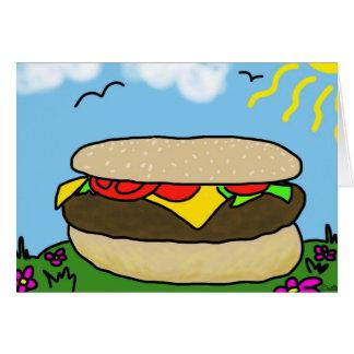 幸せなハンバーガー日カード(ブランク) カード