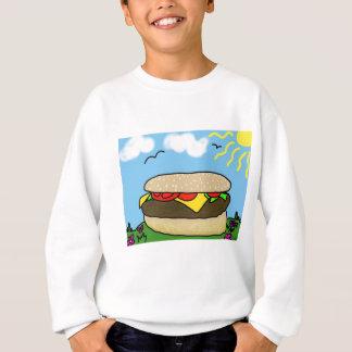 幸せなハンバーガー日 スウェットシャツ
