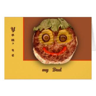 幸せなハンバーガー カード