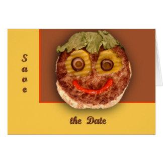 幸せなハンバーガー グリーティングカード