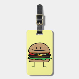 幸せなハンバーガー ラゲッジタグ