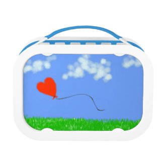 幸せなハートの気球 ランチボックス