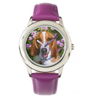 幸せなバセットハウンド 腕時計