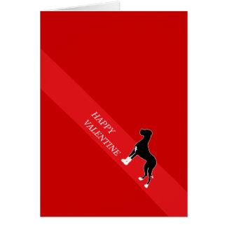 幸せなバレンタインのグレートデーン カード