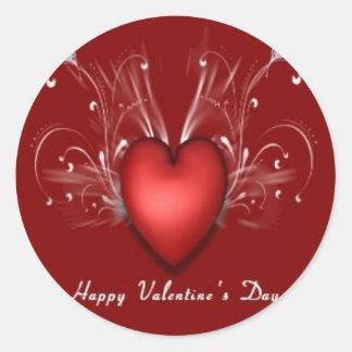幸せなバレンタインのステッカー ラウンドシール