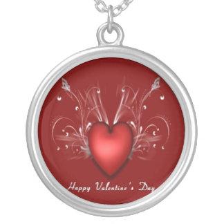 幸せなバレンタインのネックレス シルバープレートネックレス