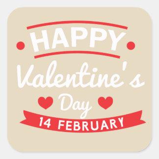 幸せなバレンタインの2月14日 スクエアシール