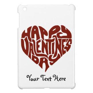 幸せなバレンタインデーのカスタムなギフトのタイポグラフィのハート iPad MINI カバー