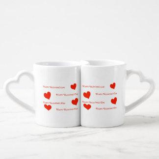 幸せなバレンタインデーの恋人のマグ ペアカップ