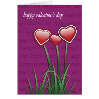 幸せなバレンタインデー カード