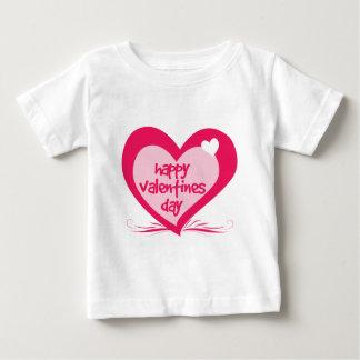 幸せなバレンタインデー ベビーTシャツ