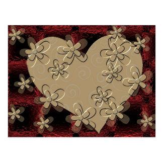 幸せなバレンタインデー ポストカード