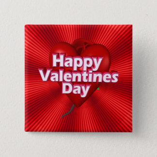 幸せなバレンタインデー 5.1CM 正方形バッジ