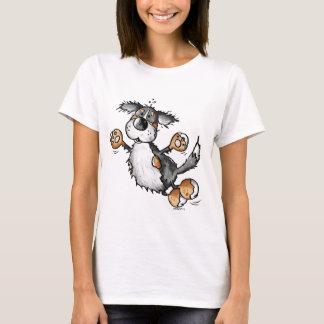 幸せなバーニーズ・マウンテン・ドッグの漫画のTシャツ Tシャツ