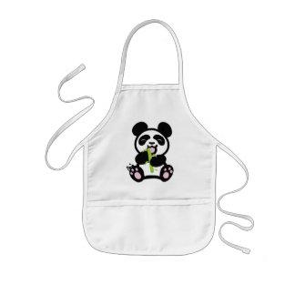 幸せなパンダの子供のエプロン 子供用エプロン