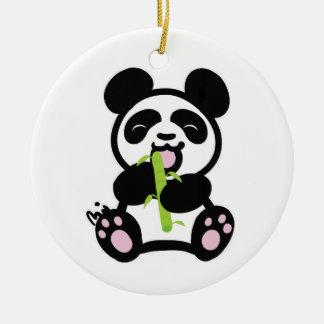 幸せなパンダ セラミックオーナメント